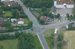 Hjørnet Jordrupvej/Kirkevej fra luften Fotografer: Vestergaard og Jensen 2009